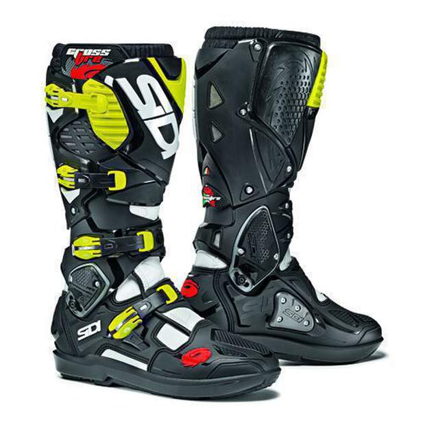 Sidi Crossfire 3 SRS White-Black-Yellow Fluo