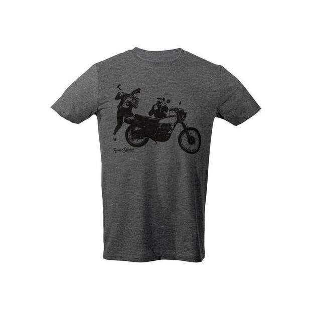 Rusty Stitches T-Shirt Charlie Grey
