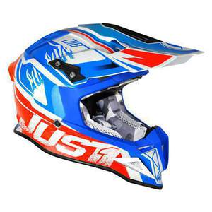 JUST1 Helm J12 Dominator White-Red-Blue