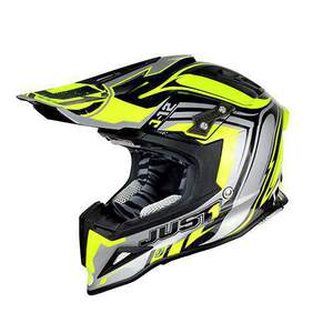 JUST1 Helm J12 Flame Yellow-Black