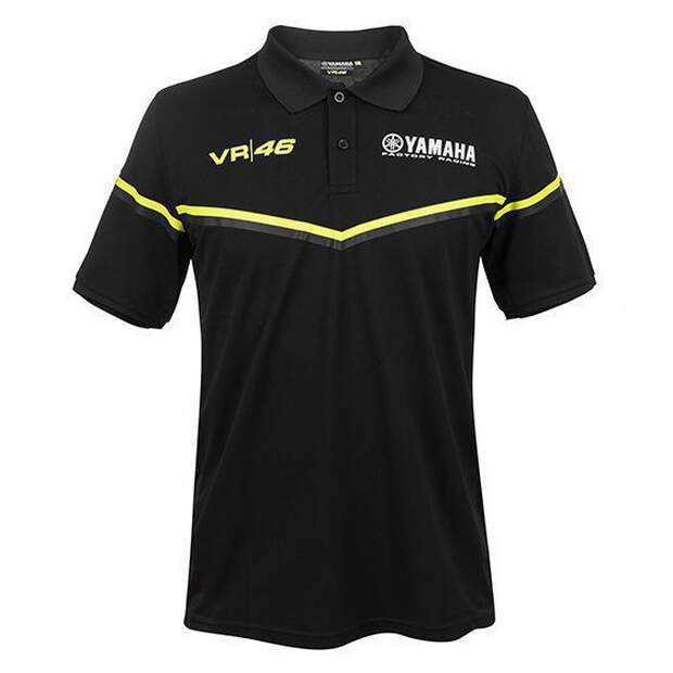 VR46 (YKMPO315604) Polo Yamaha Rossi Black
