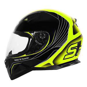 Shiro HelmH-881 Furacao Black-Yellow Fluo