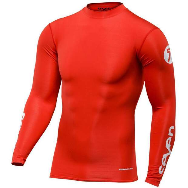 Seven Hemd Zero Compression red