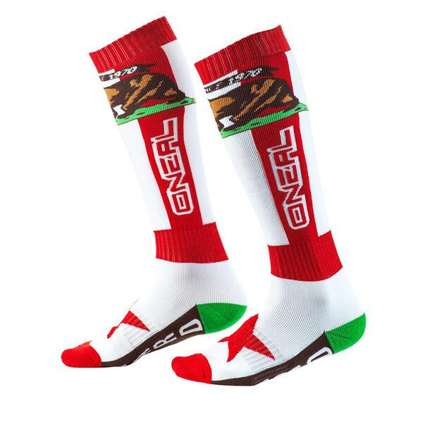 Oneal PRO MX Socken CALIFORNIA rot/weiss/brown (One Size)