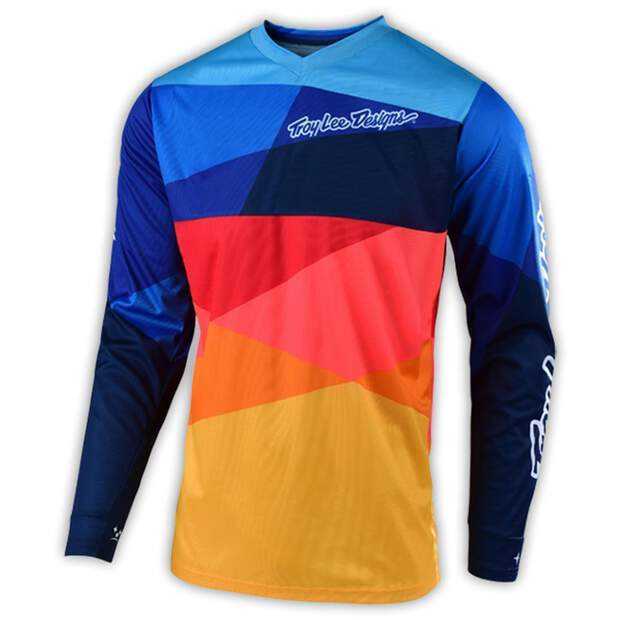 TLD Youth Gp Air Jersey; Jet Navy/Orange