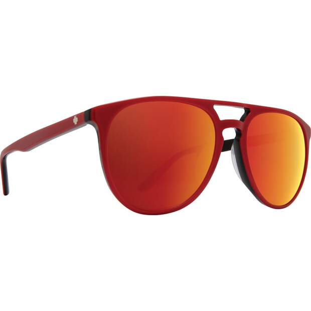 SPY-OPTIC-Sonnenbrille-Syndicate-red-black-happy-gray-green