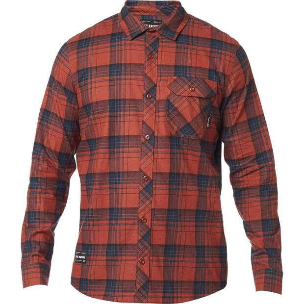 Fox Gamut Stretch Flannel Rot/Blau