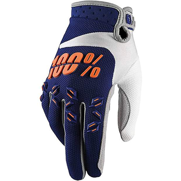 100% Airmatic Handschuhe Blau/Orange