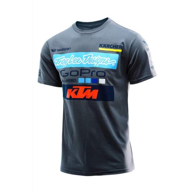 Designs For A Shirt | Troy Lee Designs T Shirt Team Ktm Go Pro Grau