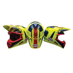 Helm Moto 9 Flex Vice Blue/Yellow